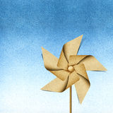 Windmill recycled papercraft Stock Photo