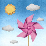 Windmill recycled papercraft Stock Photography