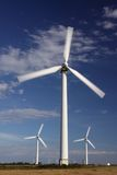 Windmill-renewable energy concept stock images
