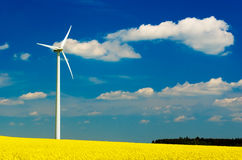 Windmill renewable power energy royalty free stock images