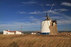 Windmill, Rogil, Portugal Stock Photo