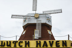 Windmill on roof Royalty Free Stock Image