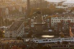 Windmill in Rotterdam Stock Image