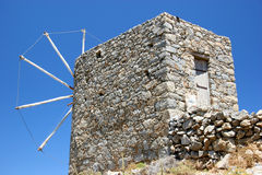 Windmill ruins in crete. Greece royalty free stock image
