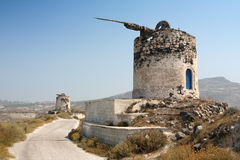 Windmill ruins on Santorini Royalty Free Stock Photo