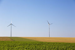 Windmill. In a rural Field Stock Photography