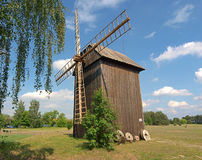 Windmill from a rural open-air museum. stock image