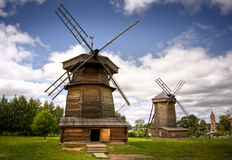 Windmill in Russian countryside Stock Image