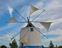 Free Windmill Sails In Action For Milling Wheat Stock Photography - 159853562