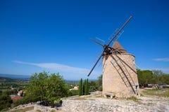 Windmill in Saint Saturnin les Apt, Provence, France Stock Photos