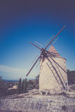 Windmill in Saint Saturnin les Apt, Provence, France Stock Photography