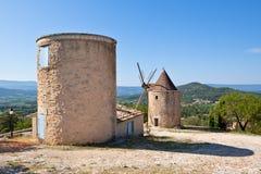 Windmill in Saint Saturnin les Apt, Provence, France Stock Image