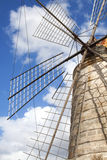 Windmill in the salt mines at Tripoli, Sicily, Italy Stock Photography