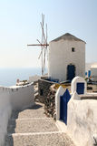 Windmill on Santorini Royalty Free Stock Photography