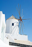 Windmill on Santorini. Royalty Free Stock Image