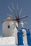 Windmill, Santorini. Old Windmill ,santorini,Oia Greece 2012 Royalty Free Stock Photography