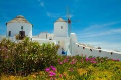 Windmill in Santorini Royalty Free Stock Image