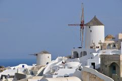 Windmill - santorini (cyclades) Stock Photo