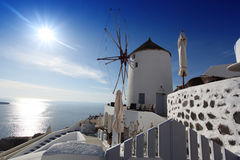 Windmill in Santorini, Greece Stock Image