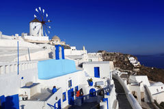 Windmill in Santorini, Greece Royalty Free Stock Photos
