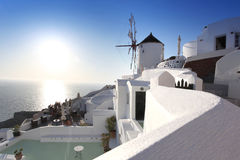 Windmill in Santorini, Greece Stock Photography