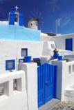Windmill in Santorini, Greece Stock Photography