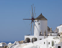 Windmill of Santorini, Greece Royalty Free Stock Images