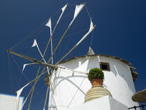 Windmill - Santorini - Greek Islands Royalty Free Stock Photography