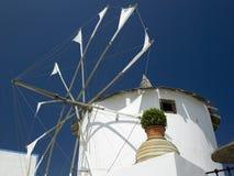 Windmill - Santorini - Greek Islands Royalty Free Stock Photography