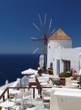 Windmill on Santorini island Royalty Free Stock Photos