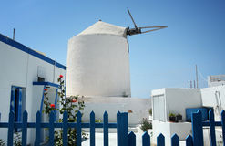 Windmill on Santorini island, Greece Royalty Free Stock Images