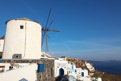 Windmill on Santorini island Royalty Free Stock Photography