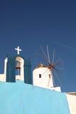 Windmill on Santorini island Stock Images