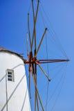 Windmill on Santorini island Stock Image