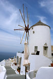 Windmill on Santorini Island. Stock Image
