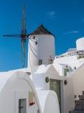 Windmill in Santorini Stock Photo