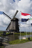 Windmill in Schermer Holland stock images