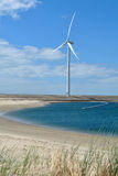 Windmill at sea - wind turbine Stock Photos