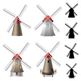 Windmill set Royalty Free Stock Photography