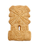 Windmill shaped cookie isolated Royalty Free Stock Images