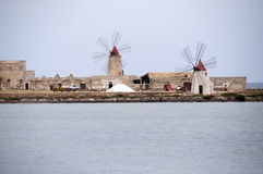 Windmill in Sicily, Italy Royalty Free Stock Photo