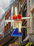 Windmill - signboard souvenir shop in Amsterdam . Netherlands Stock Image