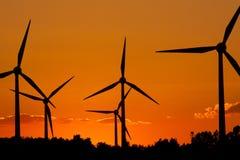 Windmill Silhouette Stock Photos