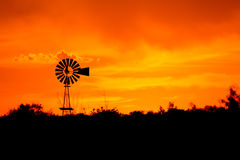 Windmill Silhouette Stock Images
