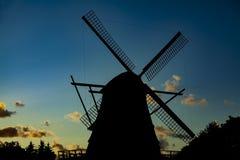 Windmill silhouette Stock Photo