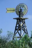 1904 windmill on site of Judge Roy Bean in Langtry, TX stock photography