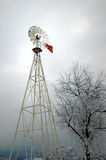 Windmill in the Snow royalty free stock images