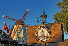 Windmill at The Solvang Brewing Company California Royalty Free Stock Image