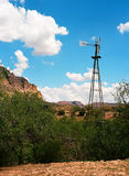 Windmill. Sonora desert in central Arizona USA Stock Photo