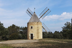 Windmill in the south of france Royalty Free Stock Photo